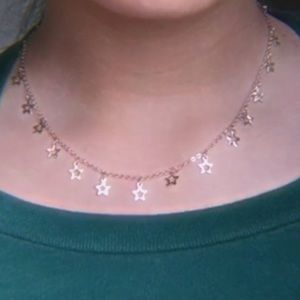 cute star gold necklace